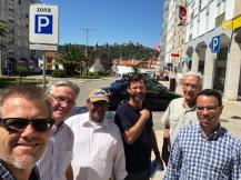 Milton, a friend, our colleagues and another pastor prayer walking in Tomar